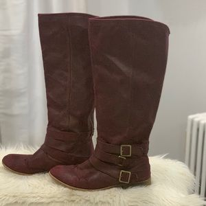 Madden Girl the Campusss crimson riding boots 11M